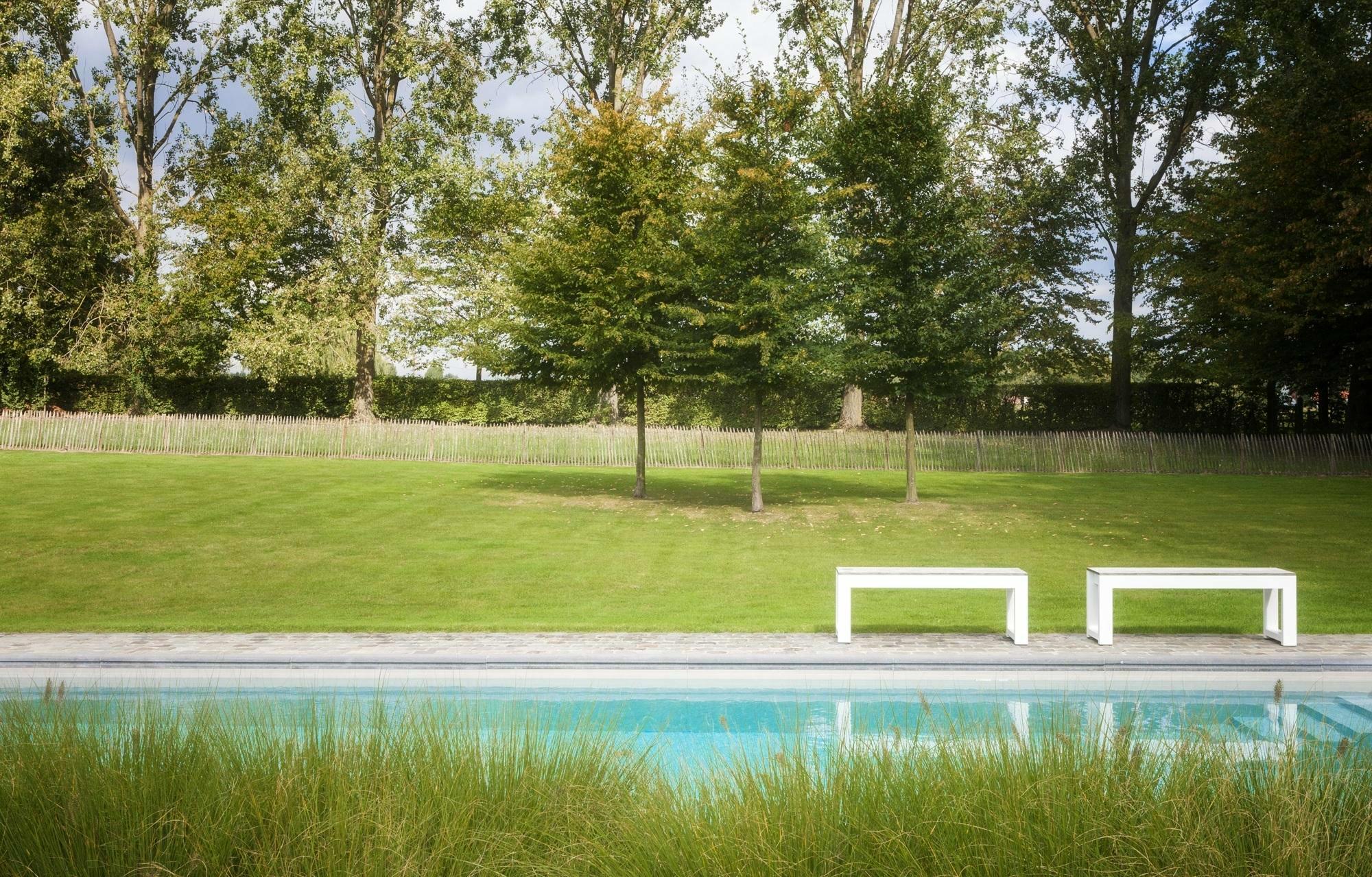 Betonnen zwembad in Gavere